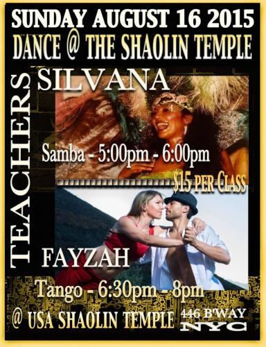 NYC Shaolin Temple - Tango Class with Fayzah