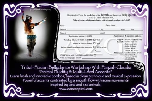 Dance Workshops in AZ, with Fayzah