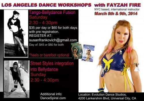 L.A. Fusion Dance Workshops with Fayzah