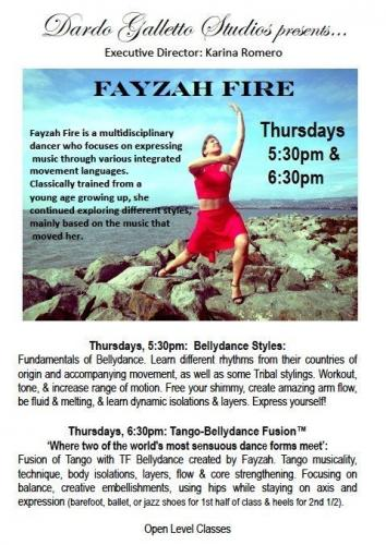Galleto Tango Studios NYC - classes with Fayzah